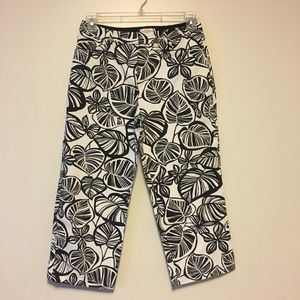 Talbots palm leaf ankle capris pants 10 petite